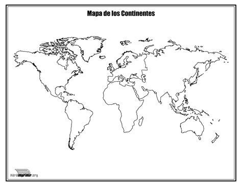 Mapa De Los Continentes En Blanco