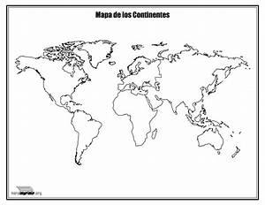 Mapa Con Nombres De Los Continentes Para Imprimir