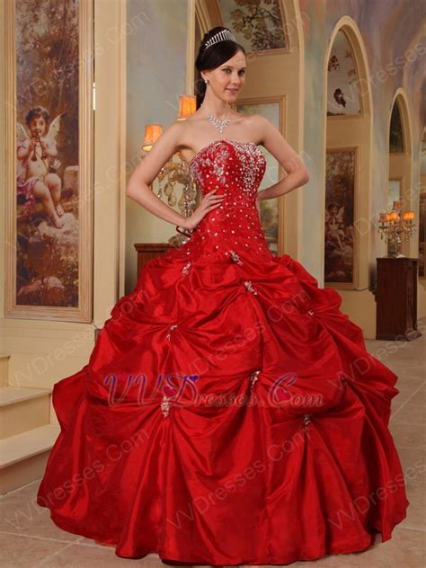 beaded wine red  quinceanera dress  cheap