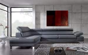canapé d angle en cuir gris le canapé d 39 angle en cuir 60 idées d 39 aménagement