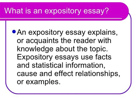 How To Narrow Expository Essay by Expository Essay
