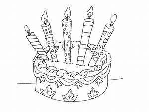 Dessin Gateau Anniversaire : coloriage g teau d anniversaire imprimer ~ Melissatoandfro.com Idées de Décoration