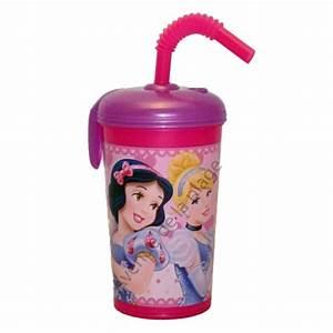 Verre Avec Paille : gobelet princesses disney personnalisable verre pour enfants ~ Teatrodelosmanantiales.com Idées de Décoration