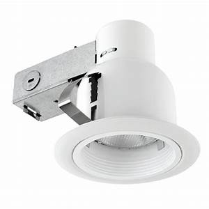 Lithonia lighting in matte white recessed baffle