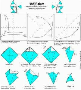Origami Bellflower Folding Instructions