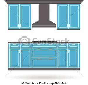 Modern kitchen cabinets with cooktop color design eps for Kitchen colors with white cabinets with free logo stickers