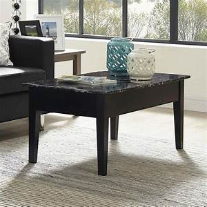 faux marble lift top coffee table in black wm4057b With black faux marble coffee table