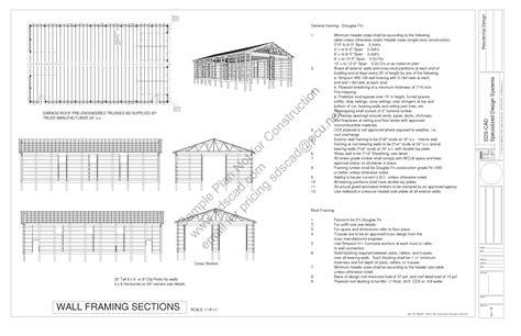 Download Free Sample Pole Barn Plans #g322 40' X 72' 16