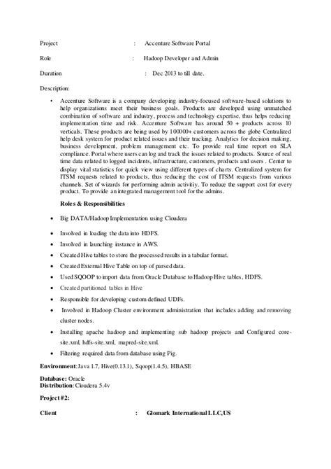 Hadoop Admin Resume by Sasmita Bigdata Resume