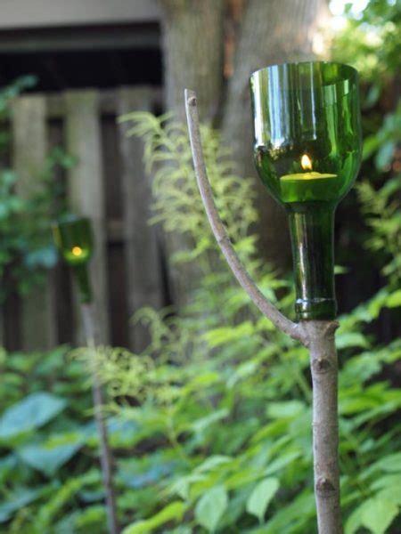 amazing     wine bottles   garden