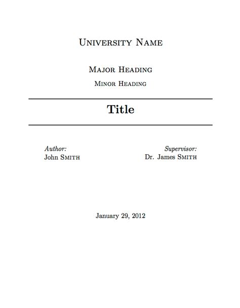 assignment title page template font stuff