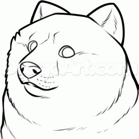 draw shibe doge step  step characters pop