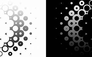 Black white circles monochrome modern wallpaper