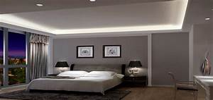 Gray wall rendering modern bedroom download d house