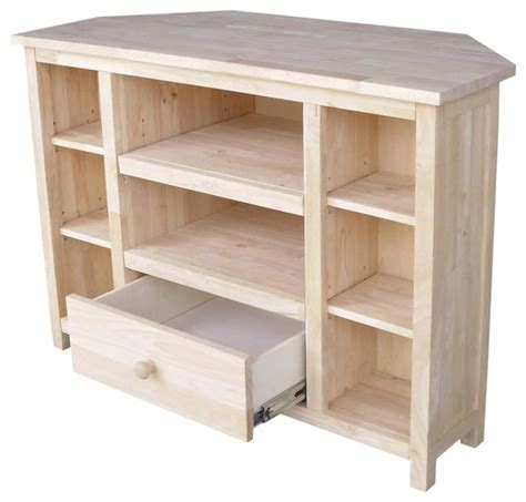 39 in. Corner TV Stand   Beach Style   Entertainment Centers And Tv Stands   by ShopLadder