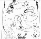 Coloring Treasure Map Pirate Printable Template Chinese Island Sheet Dragon Popular Adults sketch template