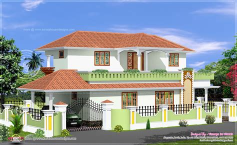 Simple 4 Bed Room Kerala Style House  Kerala Home Design