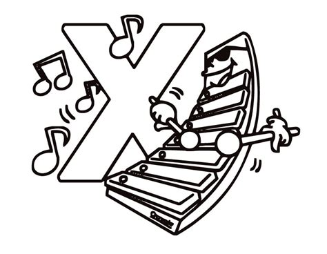 Letter X Coloring Pages To Download And Print For Free