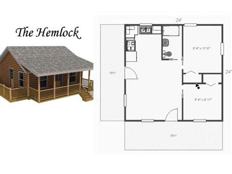 Small Cabin Plans 24X24 Small Cottage Plans with Loft