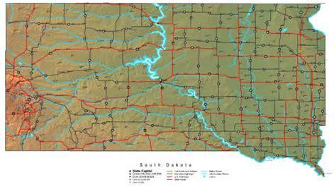 south dakota map  maps  south dakota state