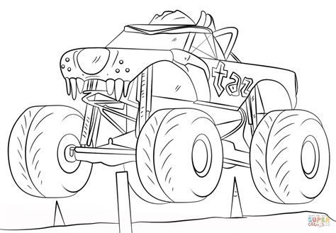 Excelente Libro De Colorear De Monster Truck Cresta
