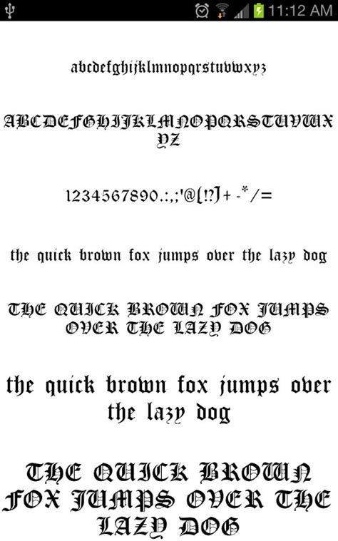 * the type of work you're doing. OldEng Fonts for FlipFont free - Android Apps on Google Play