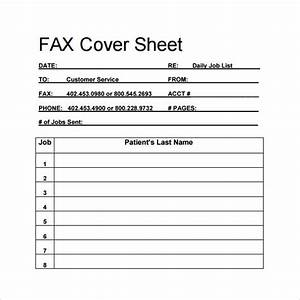 Sample Blank Fax Cover Sheet 14 Documents in PDF Word