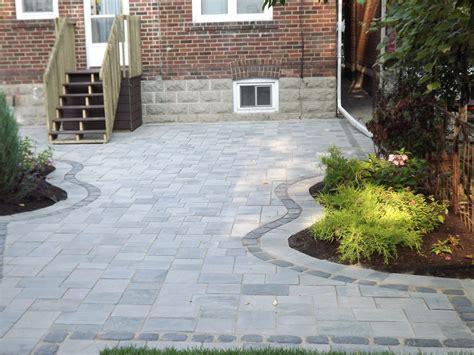 interlock patio ideas paradise views landscaping new interlock design in toronto using richcliff