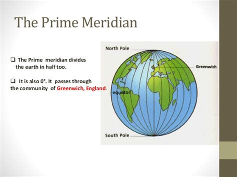 Prime Meridian,Equator, Latitude and longitude