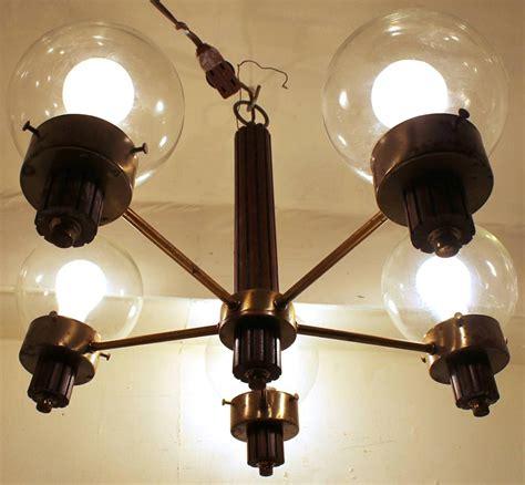 vintage brass teak mid century modern hanging