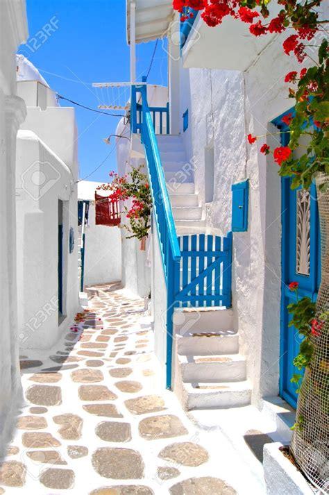 Beautiful White Streets Of Mykonos Greece Mykonos