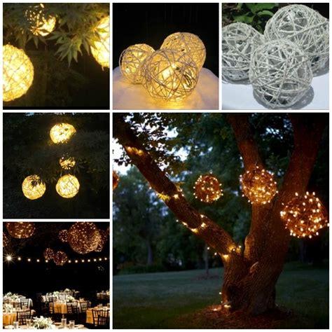 wonderful diy lighted yarn decoration