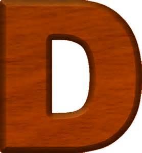 Cherry Wood Letters D