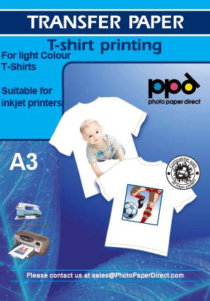 light transfer paper instructions a3 inkjet t shirt transfer paper x 50 sheets with free