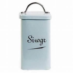 New Design Sea Spray Blue Enamel Welsh Siwgr Sugar Canister