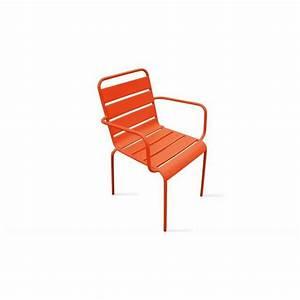 Chaise Exterieur Design : chaise de jardin design fauteuil ext rieur en acier orange achat vente fauteuil jardin ~ Teatrodelosmanantiales.com Idées de Décoration