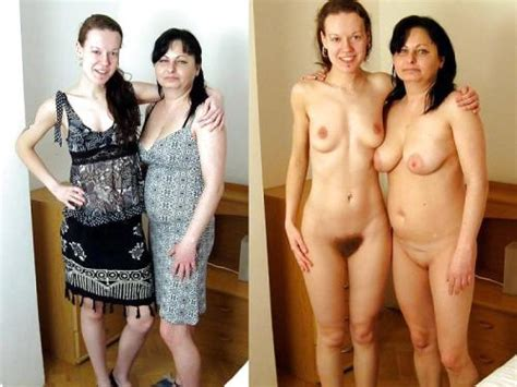 Clothed unclothed mom