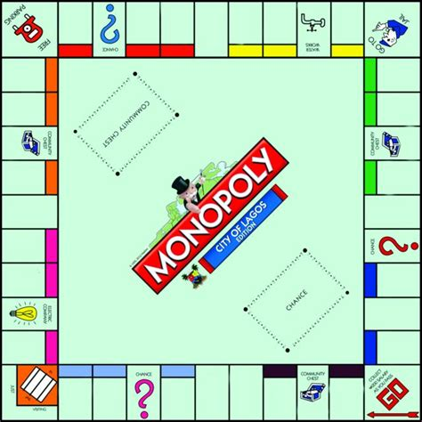 monopoly board template the quot city of lagos edition of monopoly quot is here bestman set to launch the lagos edition