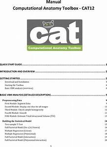 Cat12 Manual