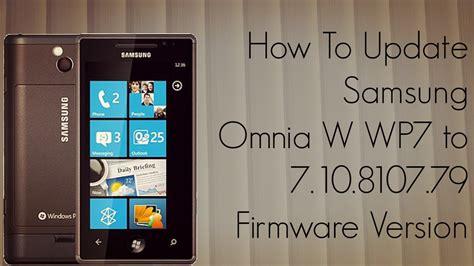 samsung omnia 7 baixar de software update