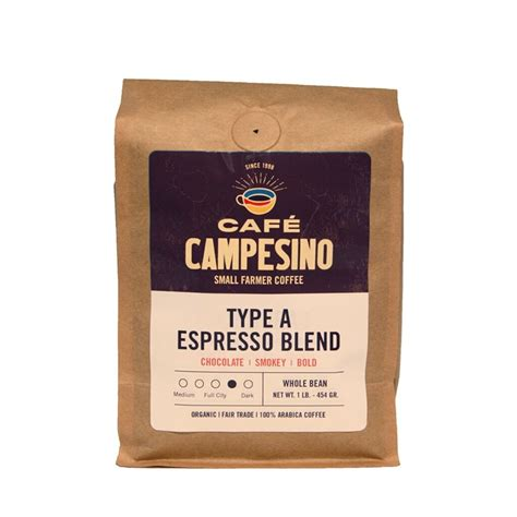 Barista knows best. well, when it comes to coffee, anyway. Buy Type A Espresso Roast Coffee Blend - Fair Trade & Organic