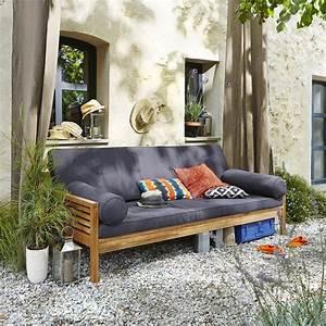 Lit De Jardin Pas Cher : banquette lit de jardin acacia ayumi la redoute interieurs ventes pas ~ Nature-et-papiers.com Idées de Décoration