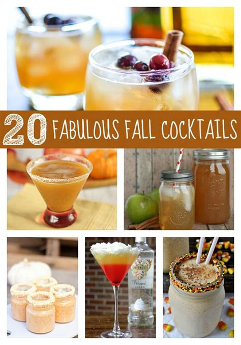 fall drink ideas 20 fabulous fall cocktails pretty my party
