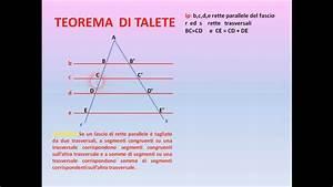 Teorema Di Talete I U00b0p