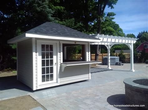 Hip Roof Pergola by Pergolas Vinyl Wood Homestead Structures