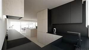 Revêtement Mural Cuisine : design interieur revetement mural en bois cuisine sans poignee bois noir rev tement mural en ~ Farleysfitness.com Idées de Décoration