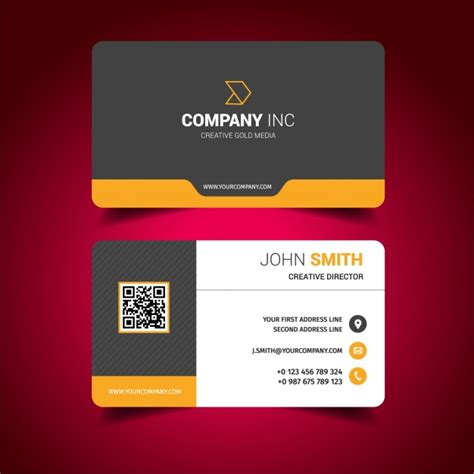 Business Card Design Vector  Free Download