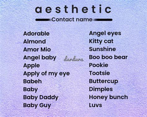 ide nama kontak aesthetic untuk pacar sahabat dan teman