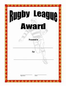 rugby achievement certificate template images With rugby league certificate templates