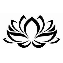 Black And White Egyptian Lotus Flower Symbol Gardening Flower And